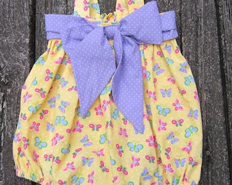 Baby girl bubble sunsuit Size 3 to 6 month