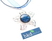 Sapphire Starburst Style Star Shaped Magnetic Nail Polish Pendant Necklace - Limited Edition Nail Polish Jewelry