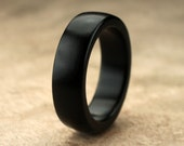 Custom Ebony Wood Ring - 7mm