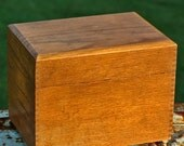 It USED to be a CARD catolog...   vintage wooden box... T6 L