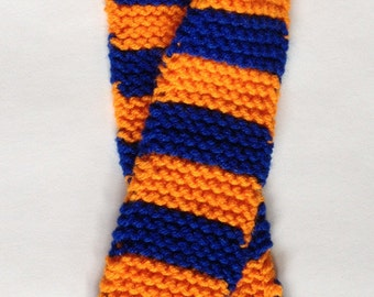 Orange & Blue Scarf for Doll or Baby