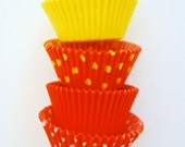 Assorted Yellow  and Orange Cupcake Liners (50 Liners)