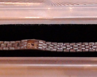 Swiss Watch Bracelet Wind Up  ART Deco La Marque Watch Co  and is Working Chrome Plated Antique with jewels