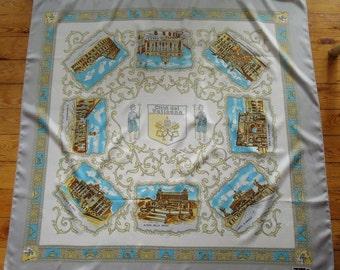 Vintage Souvenir Vatican Scarf - Citta del Vaticano, Castel S. Angelo, Arco di Constantino, San Pietro, Il Colosseo, Il Campidoglio,