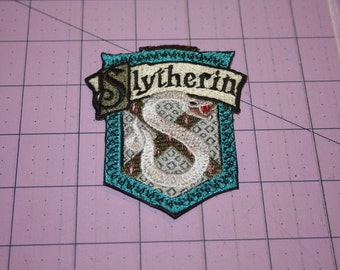 Slytherin Machine Embroidered Iron On Patch