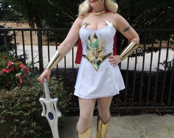She-ra Winged Headpiece, Choker, Breast Wings, Belt, Bracers, Chest Starburst and Greaves.