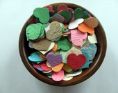 Heart Confetti  Plantable Paper  Rainbow Assortment  Wildflower Seed  1