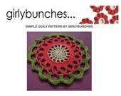 Girlybunches - Simple Crochet Doily PDF Pattern - GBDP02
