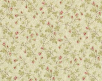 Tiny floral in Green Paris Flea market by 3 sisters for Moda 1 yard