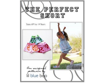 DIY PDF Pattern and Tutorial - Girl's Shorts Pattern - Sizes 6M through 14