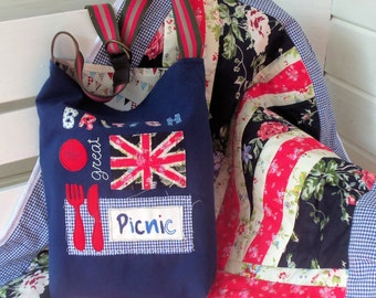 Great British (Union Jack) Picnic Blanket and Bag pattern