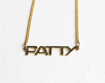 Patty Name Necklace, Name Necklace, Patty Necklace