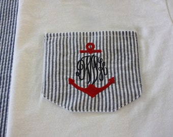 Embroidered Pockets T-Shirts