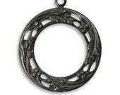 SALE: 2  pieces Berry Wreath, Arte Metal decorative pendant drop