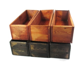 Wedding Table Decor -  6 Wood Centerpiece Boxes - Reclaimed Wood Box