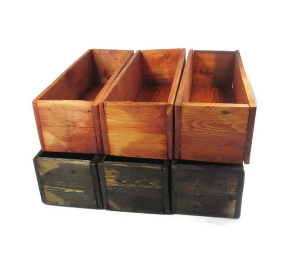 Wedding table decor wood centerpiece boxes reclaimed