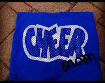 Cheer Mom Double Applique T-Shirt