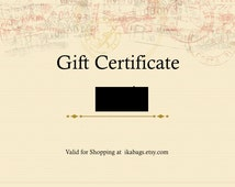 Gift Cards / Gift Certificate from Paris IKABAGS