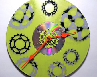 Record CD Sprocket Clock