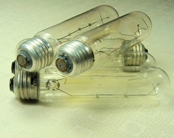 5 Vintage  Light Bulb Tubes- Repurpose- Reuse- Assemblage- Mixed Media