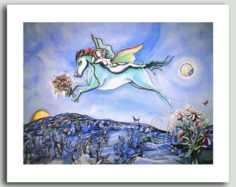 Blue Moon for M.C. - Pegasus print