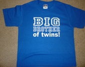 Big Brother to Twins shirt Available in many different designs