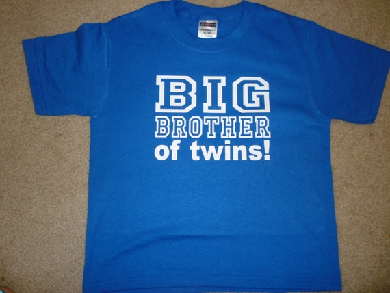 Wedding Gift For Twin Brother : Big Brother To Twins Shirt Available In Many Different Designs