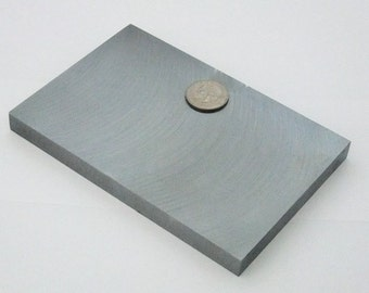 "Large Solid Steel Bracelet Bench Block  6""x4""x1/2"""