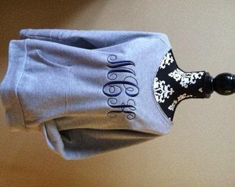 Monogrammed crewneck sweatshirt | Etsy
