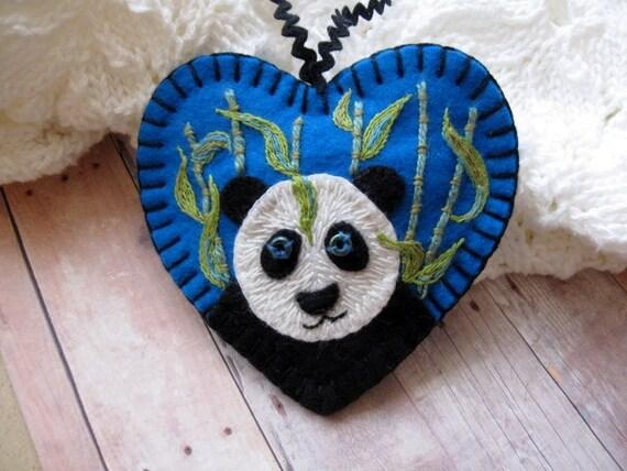 Peaceful Panda Ornament