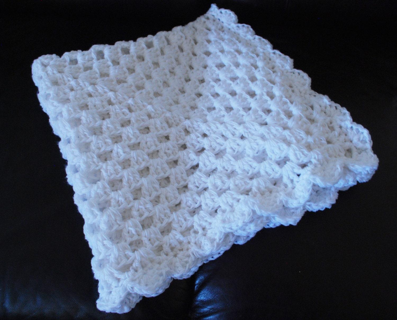 Crochet Patterns Christening Blanket : Baby Blanket Crochet Blessing Blanket Christening by ...