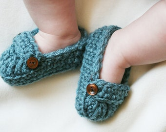 Baby Booties, Baby Loafers, Baby Loafer Booties, Crochet baby booties, Crochet baby loafers