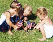 American Flags-Children Planting Flags-Patriotic-USA-Fine Art Photography-8X10
