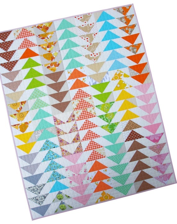 Modern Flying Geese Quilt