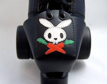 "Leather Toe Guards with ""Pirate Bunny"""