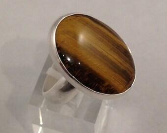 Sterling Silver Tigereye ring