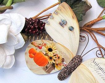 Butterfly Embellishments Autumn Harvest
