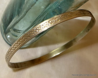 Basket Weave Sterling Silver Bracelet Bangle