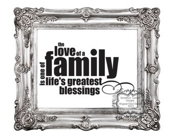 The Love Of A Family Vinyl Decal