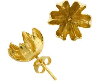Large Gold Seed Stud Earrings