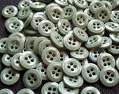 Store Closing - See Shop Announcement for deep discounts!  Deep Seafoam Green Buttons - 1/2 inch - YOU PICK QUANTITY - 50 thru 200