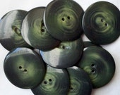 See Shop Announcement for Discount Code - Swirl Forest Green Buttons  - 1 1/2 inches - YOU PICK quantity set 5 to 22