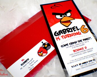 Angry Bird Invitations