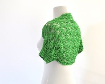Green Lace Bolero Cotton Shrug Bridal Shrug Bolero Weddings Bridal Accessories Emerald