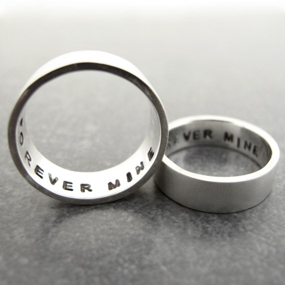 secret message rings heavyweight sterling silver promise