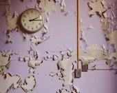 Abandoned Photography, 5x7 Print, Purple, Urban Exploration, Abstract Photography, Detroit Art, Purple Decor, Forgotten, Rustic, Lilac