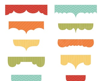Birthday Bliss Tabs Digital Clipart Clip Art Illustrations - instant download - limited commercial use ok