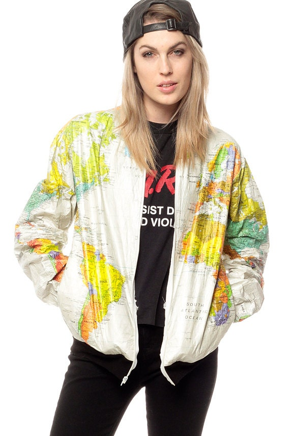 World map jacket 90s tyvek coat ussr white travel bright 80s for sales and promotions follow us here instagram shopexile facebookshopexile world map jacket gumiabroncs Choice Image