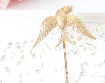 Gold Sparrow Hair Pin - Bobby Pin - Woodland Collection - Bridal