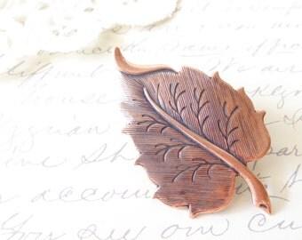 Copper leaf Hair Clip - Copper Leaf - Alligator Clip - Whimsy - Whimsical - Woodland - Bridal